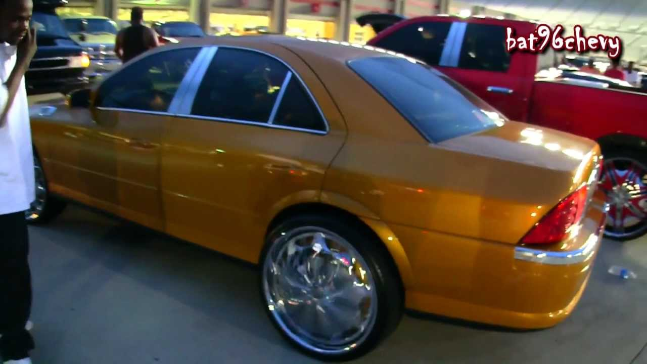 Candy Gold Lincoln Ls On 24 Dub Presidentals Jokers Floaters