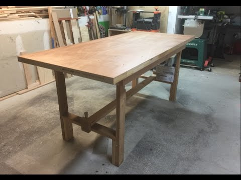 Make A Folding Workbench Youtube