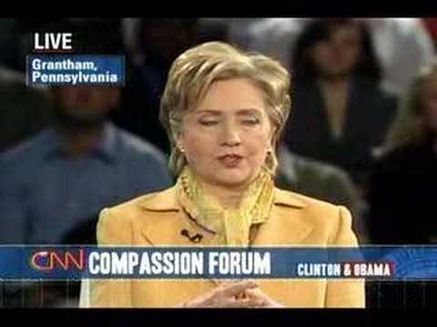 (3/5) Sen. Hillary Clinton at CNN Compassion Forum