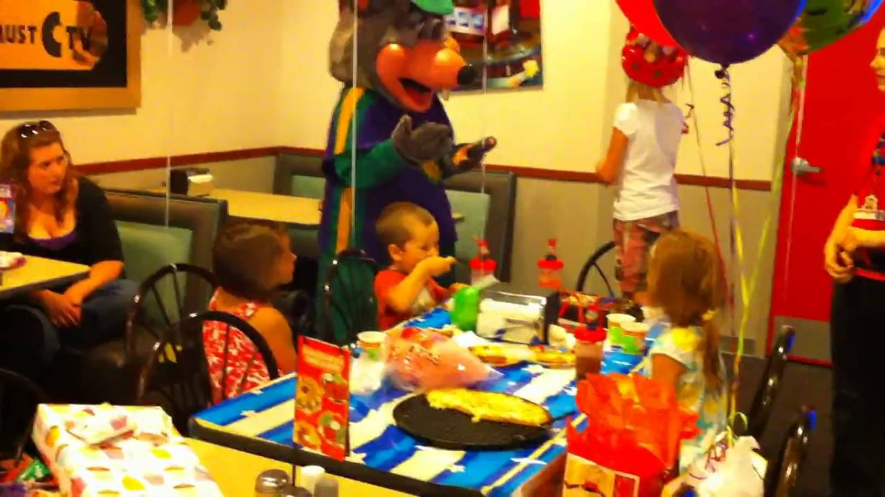 Chuck E Cheese Birthday Party YouTube