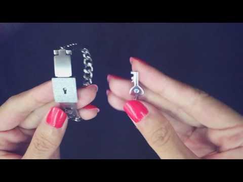 agate bead and titanium key lock lovers bracelets