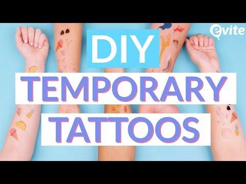 DIY Temporary Tattoos | Make Custom Tattoos In Minutes [Evite] - YouTube
