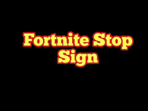 All Stop Signs Locations - Destroy Stop Signs With The Catalyst Outfit, Fortnite Season X Road Trip