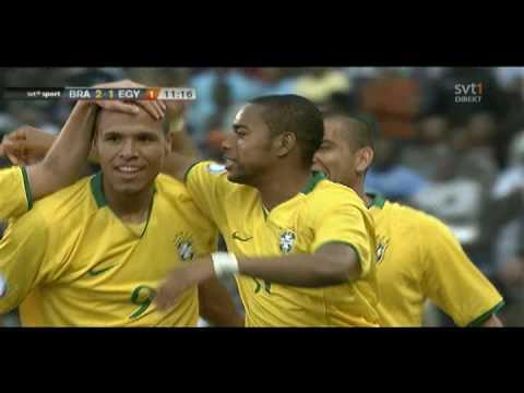 Luis Fabiano Great Goal 2-1 - Brazil vs Egypt - Conf Cup 2009 - HQ