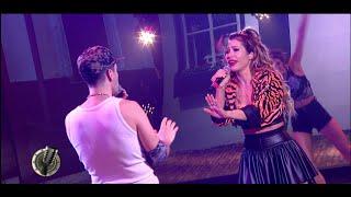 Adabel Guerrero y Leandro Bassano abrieron el ritmo cumbia cantando