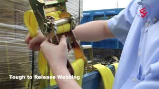 Super Heavy Duty EZ Release Ratchet tie down Cargo Straps for Commercial Flatbed Truck Trailer