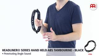 MEINL Percussion - MEINL Percussion - Headliner® Series Hand Held ABS Tambourine - HTBK