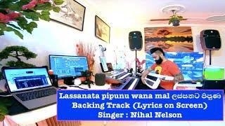 Lassanata pipunu wana mal ලස්සනට පිපුණ Backing Track (Lyrics on Screen)