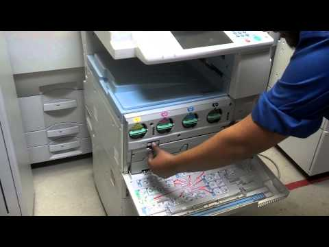 Removing Waste Toner From Ricoh MP C2550 C2050 C2051 C2551