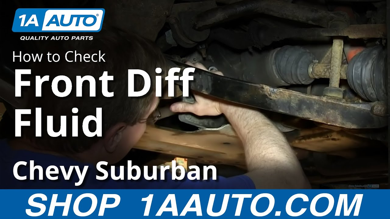 how to check 4x4 front differential gear oil fluid 2000