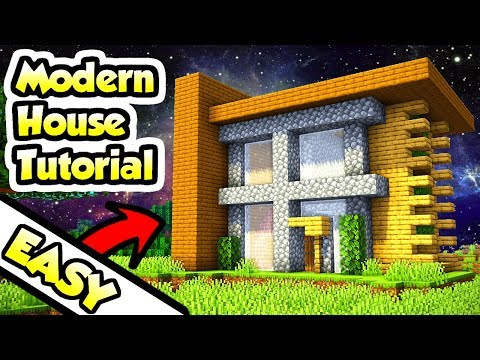 Minecraft Easy Modern Survival House Tutorial (How To Build)