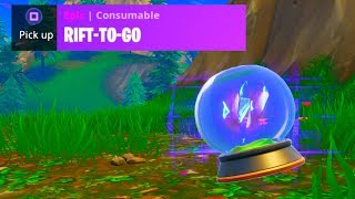 *NEW* RIFT-TO-GO GAMEPLAY! (Fortnite: Battle Royale)