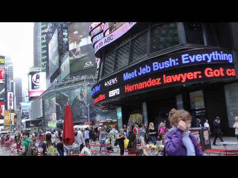 Walking through Times Square in New York City