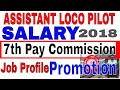 Railway 2018 Assistant loco pilot [ alp ] salary after 7th pay commission   job profile   promotion