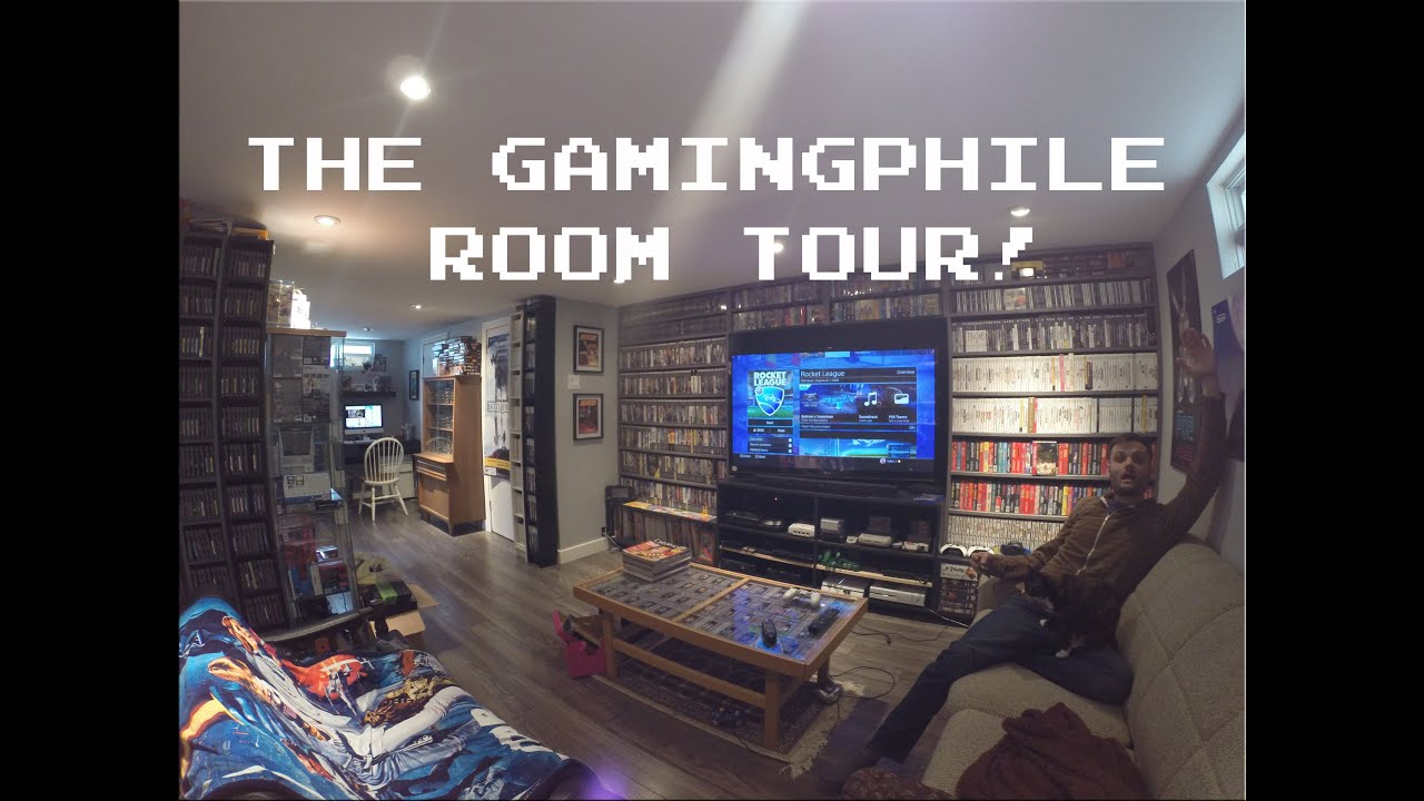 Video game room tour hd thegamingphile youtube for My new room 4 decor games