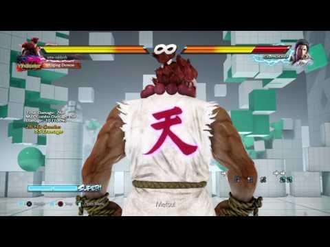 Akuma vs Claudio f+2,2 Punish (with super)
