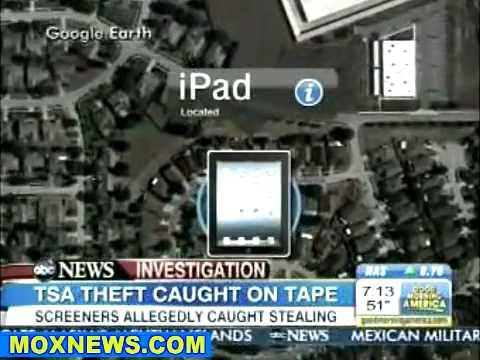 EPIC TSA FAIL: ABC News Catches TSA Agent Stealing iPad