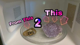 Rock in Water Microwaved for 3 Mintues