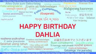 Dahlia   Languages Idiomas - Happy Birthday