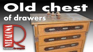 Old chest of drawers restoration. Jak opravit starou šuplíkovou komodu.