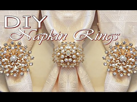 DIY Tutorial Napkin Rings (Dollar Tree Napkin Holders and