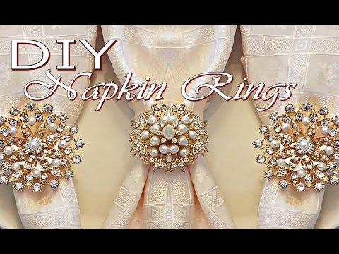 DIY Tutorial Napkin Rings (Dollar Tree Napkin Holders and