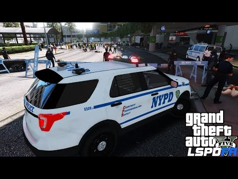 GTA 5 LSPDFR Police Mod 298 | NYPD Captain Patrol | Crazy Protest At The Airport Gone Wrong