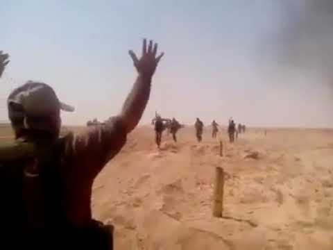 Syria Deir ez Zor Moments the Tiger Forces arrived to Brigade 137 lifting the Siege