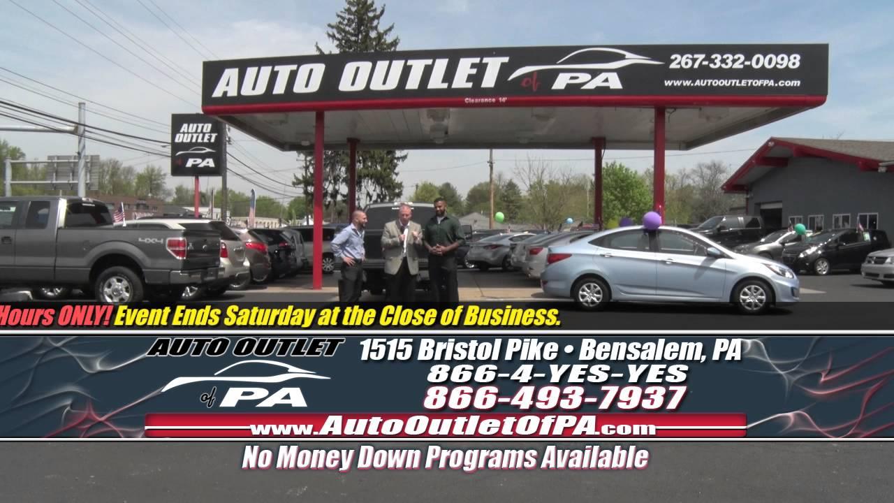 No Credit Check Car Lots >> No Credit Check Sales Event May 4 2016 Auto Outlet Of Pa