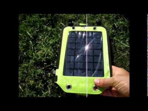 Backpacking Solar Power Pack For Charging On The Go