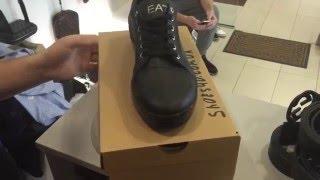 видео Мужская обувь EA7 Emporio Armani