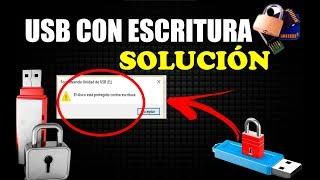 COMO QUITAR LA PROTECCIÓN CONTRA ESCRITURA DE MEMORIA USB, SD SOLUCIÓN 2018