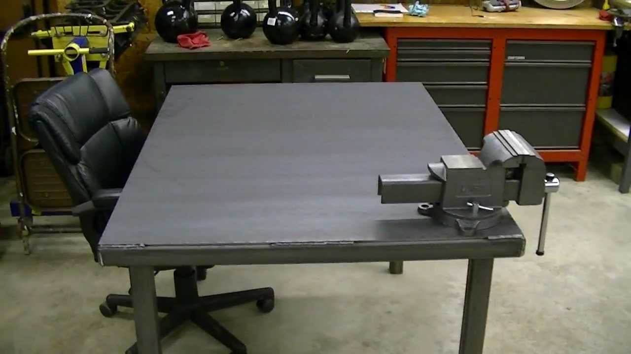 Steel Workbench Project Part 3: Finishing Up   YouTube