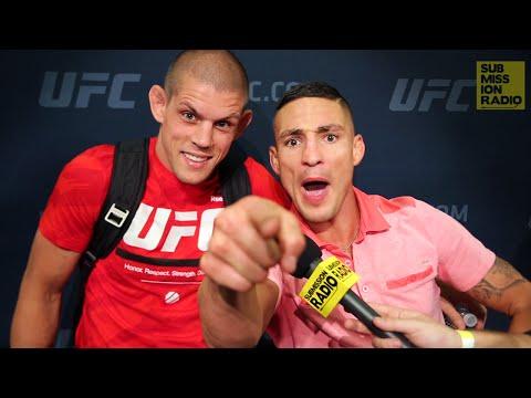 UFC 200: Joe Lauzon Crashes Diego Sanchez Interview!