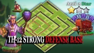 Unbeatable Th12 Legend Strong Defense Base 2018 Anti 1 Star & Anti 2 Star