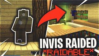We made a faction RAIDABLE in their own TRAP (INVIS RAID) | Minecraft HCF