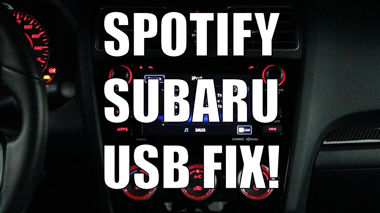Subaru How To Stream Spotify To OEM Headunit via USB - Fix, Hack,  Workaround 2017 WRX