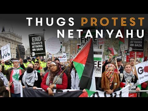 Anti-Israel protest against Netanyahu outside Downing Street London 2017