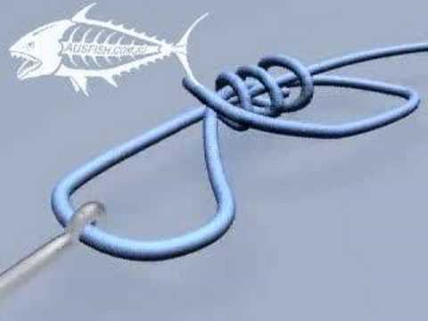 How to tie a uni knot fishing knot youtube for Uni knot fishing
