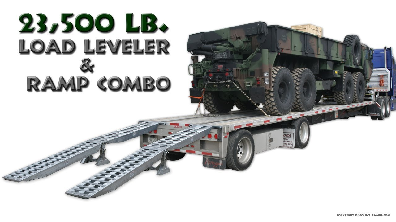 Step Deck Trailer Ramp And Load Leveler Youtube