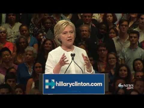 Hillary Clinton FULL Speech: Ready to Move Forward, Unite Party