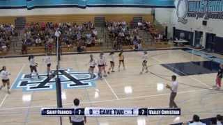 Girls Volleyball: St Francis aт VaĮĮey Christian