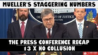 Mueller's Staggering #'s & Barr's Press Conf. Summary
