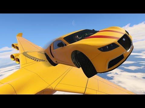 โครตรถส่งพิซซ่า!! ซิ่งทะลุเวหาเครื่องบินจัมโบ้ยักษ์!! (GTA 5 Online)