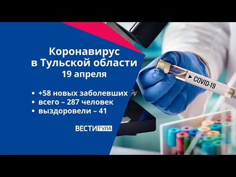 Коронавирус в Тульской области 19 апреля