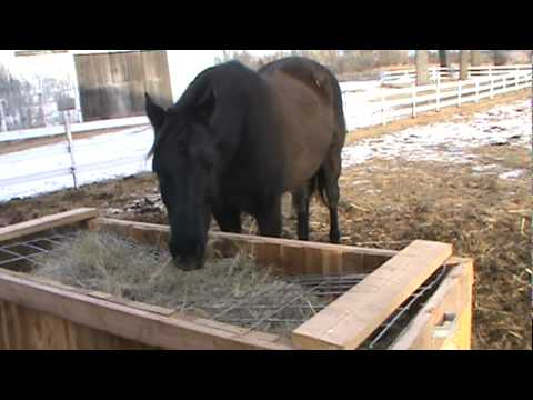 Natural hay feeder youtube for Abreuvoir lapin fait maison