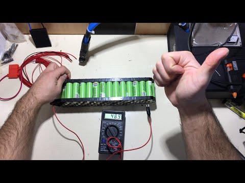 Сборка акб для электровелосипеда 48в, 13s 4p   делаем аккумулятор для єлектровелосипеда 14 Ач