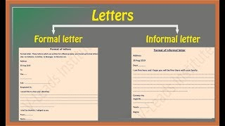How To Write Letters Formal Letter Informal Letter Youtube