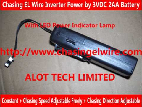 chasing el wire inverter 3vdc 2aa battery adjust chasing speed el wire arduino chasing el wire inverter 3vdc 2aa battery adjust chasing speed freely