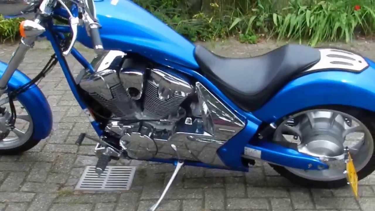 Honda Vtx 1300 Fury Customized Open Exhaust Youtube